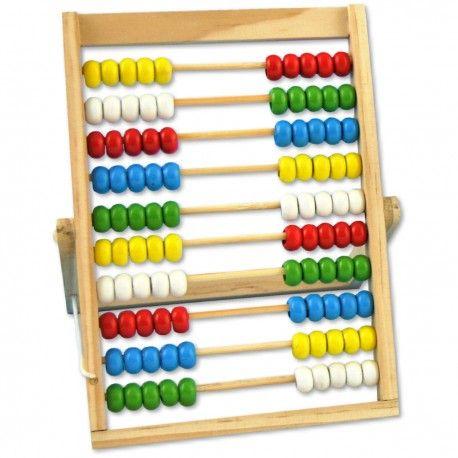 """Mit dem Abakus Rechenrahmen Zählen und Rechnen lernen und dabei die Zahlen be""""greifen"""". Prima geeignet schon für Kinder ab dem Vorschulalter."""