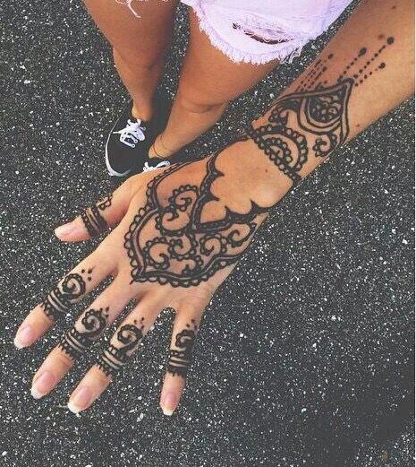 Cute Henna Tattoos: Design, Girl, Hand, Henna, Pretty, Tumblr