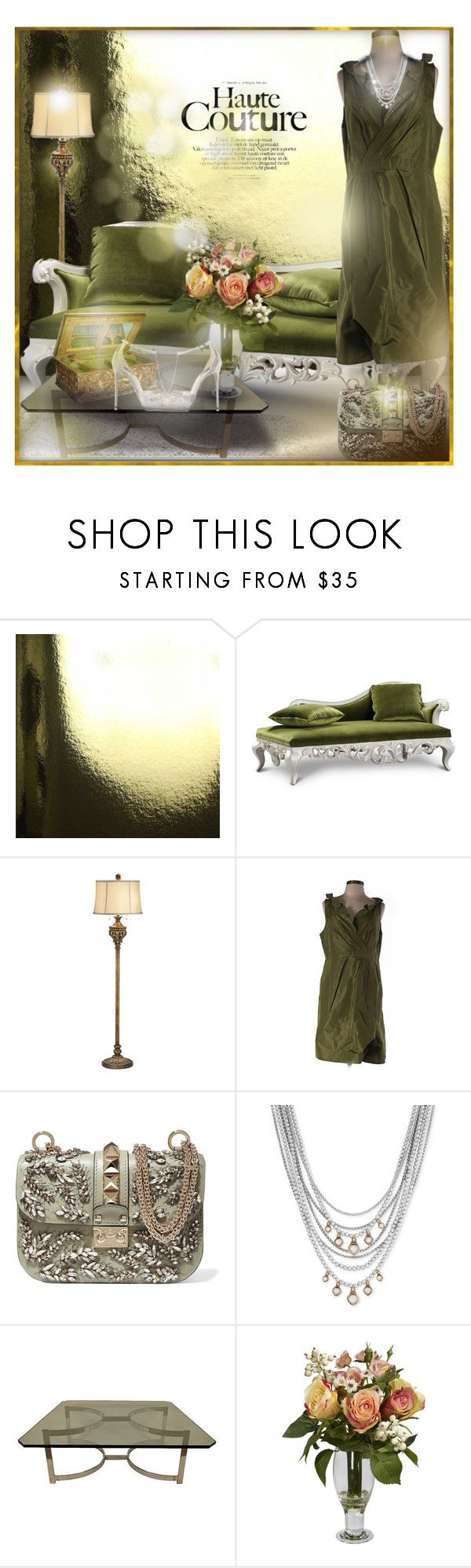 Green Day by falticska-cerasella on Polyvore featuring interior, interiors, interior design, Casa, home decor, interior decorating, Claudette, Lumière, Burke Decor and Nearly Natural