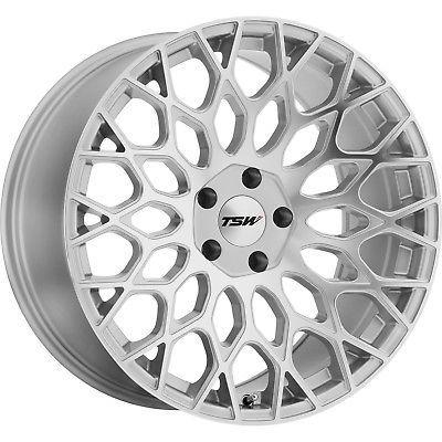 19x9 Silver TSW Oslo Wheels 5x120 15 Fits BMW 530xi ActiveHybrid 7