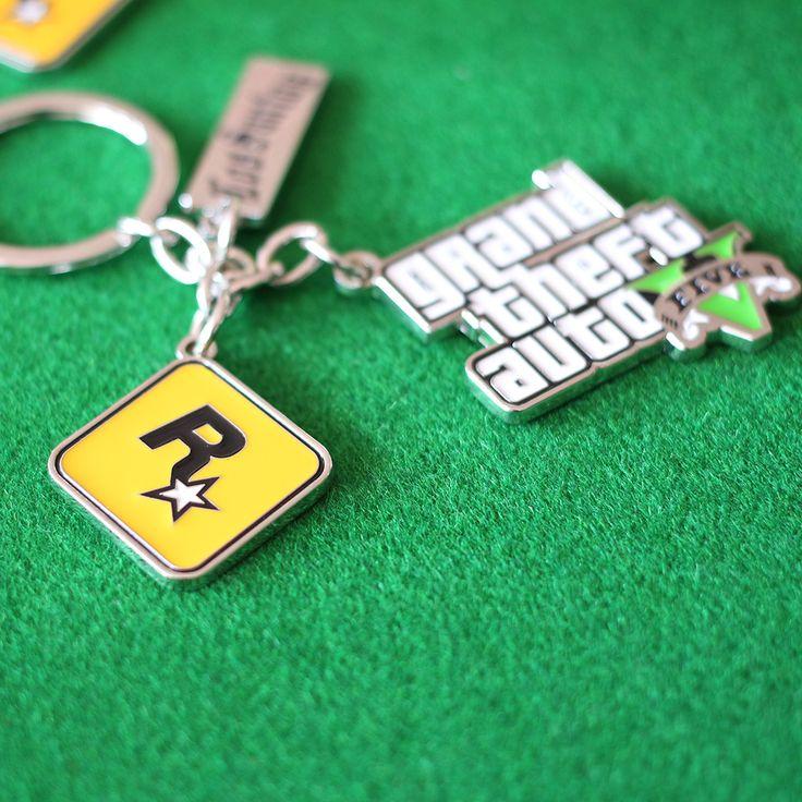 PS4 Xbox PC Rockstar Trò Chơi GTA V Grand Theft Auto 5 Móc Khóa Cho Nam Giới Người Hâm Mộ