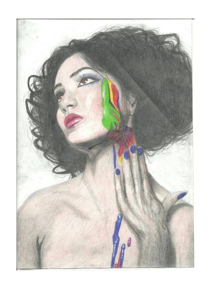 Painted Woman - 20 x 30 cm - pencil - 2012