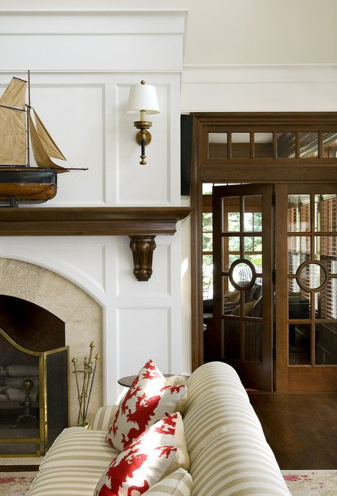 Best 25 fireplace doors ideas on pinterest brass for Residential retreat fireplace doors