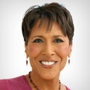 """Robin Roberts from GMA.  She always has a glow about her.  My favorite quote """"Make your mess you message"""".  I love and admire her so much."""