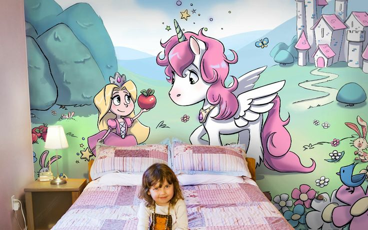 32 best images about murals for kids rooms on pinterest for Chambre unicorn