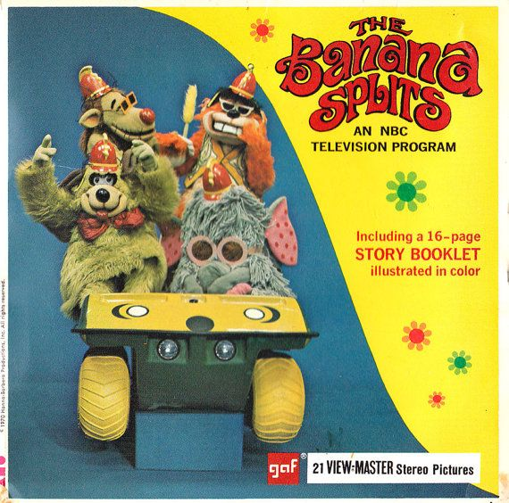The Banana Splits View-Master Reel and Retro Red View-Master