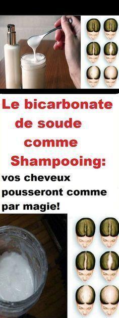 Le bicarbonate de soude comme shampooing: vos cheveux pousseront comme par magie …