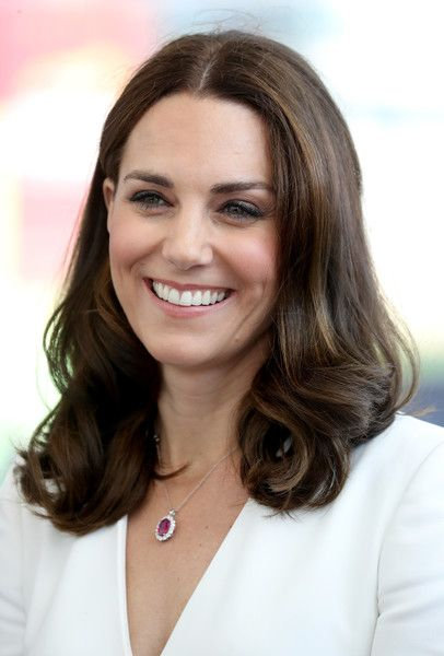 Kate Middleton Photos Photos - Catherine, Duchess of Cambridge arrives with Prince William, Duke of Cambridge to meet young entrepreneurs during a reception at the Heart, Spire Building on day 1 of their official visit to Poland on July 17, 2017 in Warsaw, Poland. - The Duke And Duchess Of Cambridge Visit Poland - Day 1