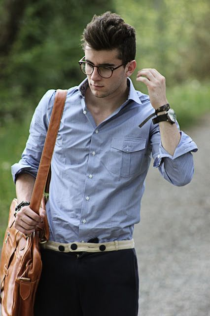 Great leather bag and glasses