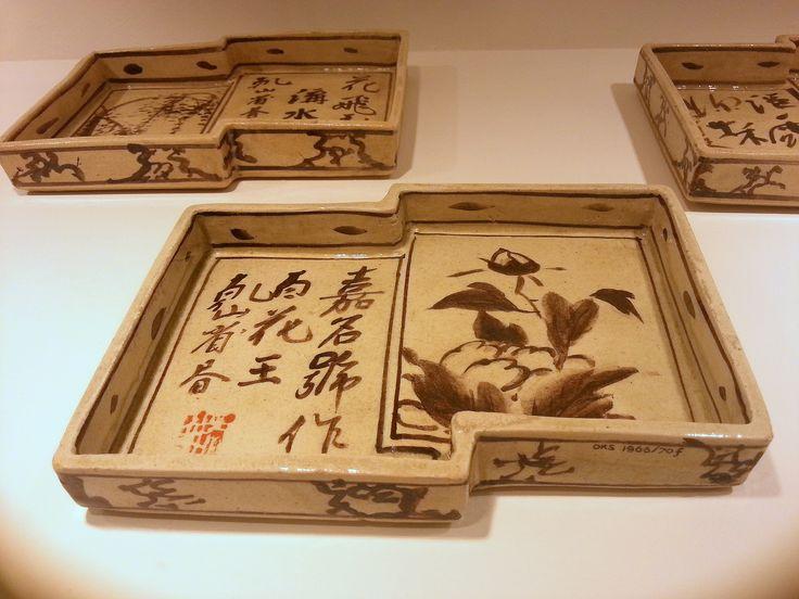 Leeuwarden - Keramiekmuseum. Vijf schaaltjes 1800-1900 - Japans aardewerk.  Foto: G.J. Koppenaal - 19/2/2015