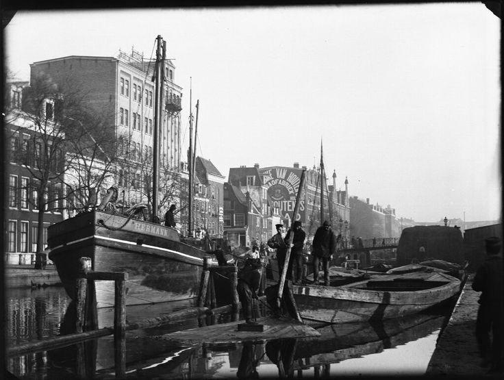 Nieuwe Prinsengracht, Amsterdam 1891. Foto: Jacob Olie