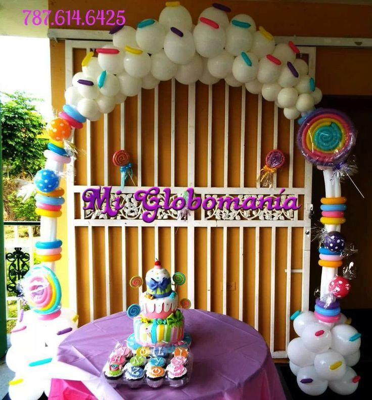 Candyland theme 66 best balloon candy decor