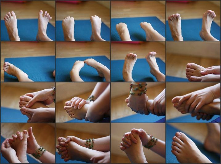 """Foot workout"" To relieve tension in the body you need to loosen up the feet. Only takes ten minutes and you can do it while watching tv, talking on the phone, etc"