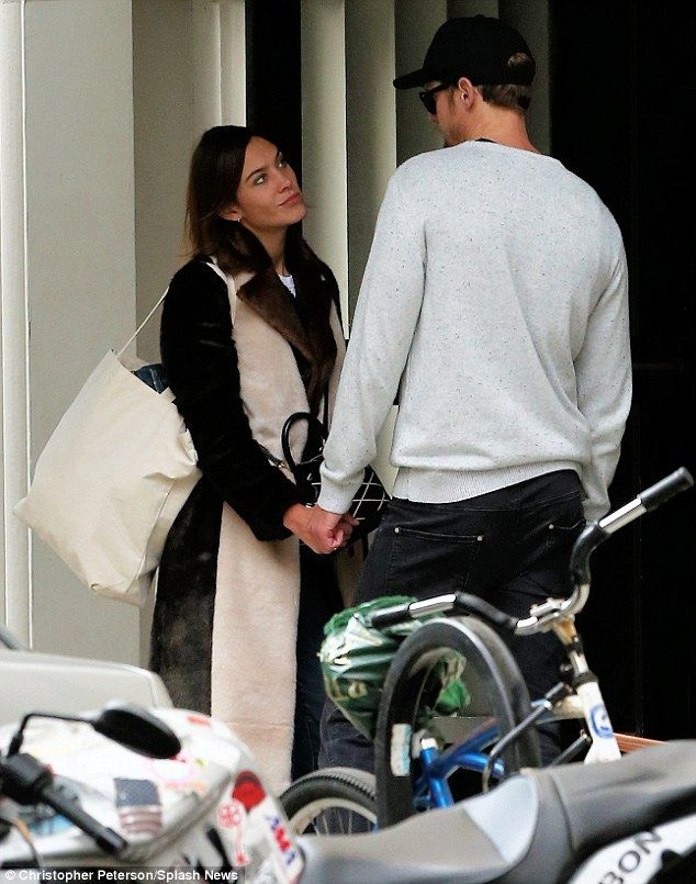 The look of love: Fashionista Alexa Chung appeared to be completely smitten with her True Blood boyfriend Alexander Skarsgard, when they were pictured out together in Soho in NYC