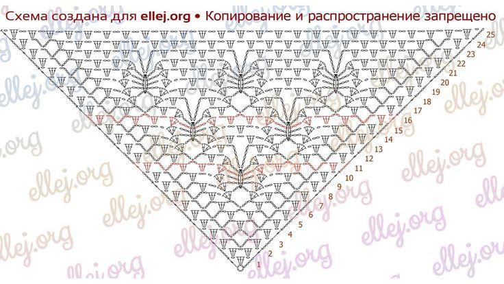 Moon Butterfly Crochet Shawl. Symbol diagram 2.
