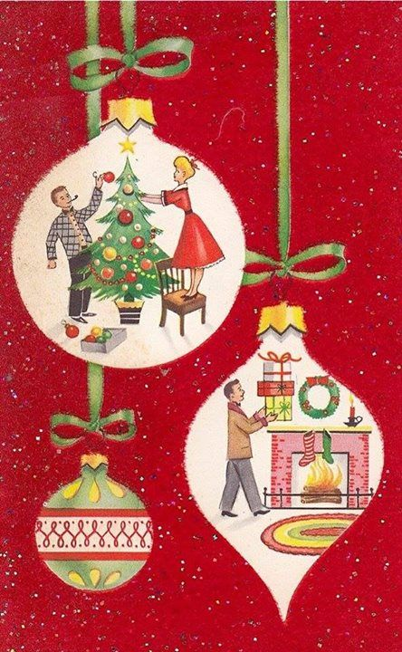 36 best ~* Vintage Christmas cards w/Mailboxes *~ images on ...