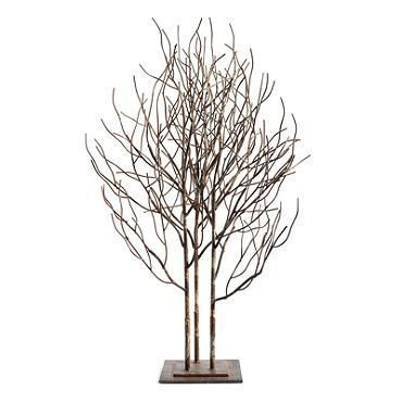Metal Tree Sculpture - Grandin Road 99.  think about starry lights on this...