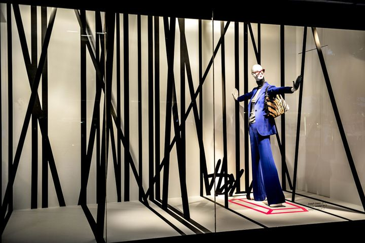 Notice the focus goes right to the merchandise. This is how you do it... Holt Renfrew windows, Toronto visual merchandising