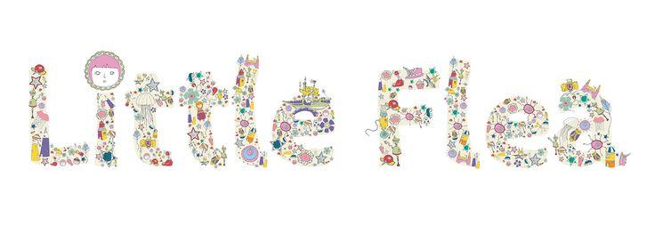 Sas and Yosh - Illustrations and Logo design for 'Little Flea.co.uk'  UK, 2014.