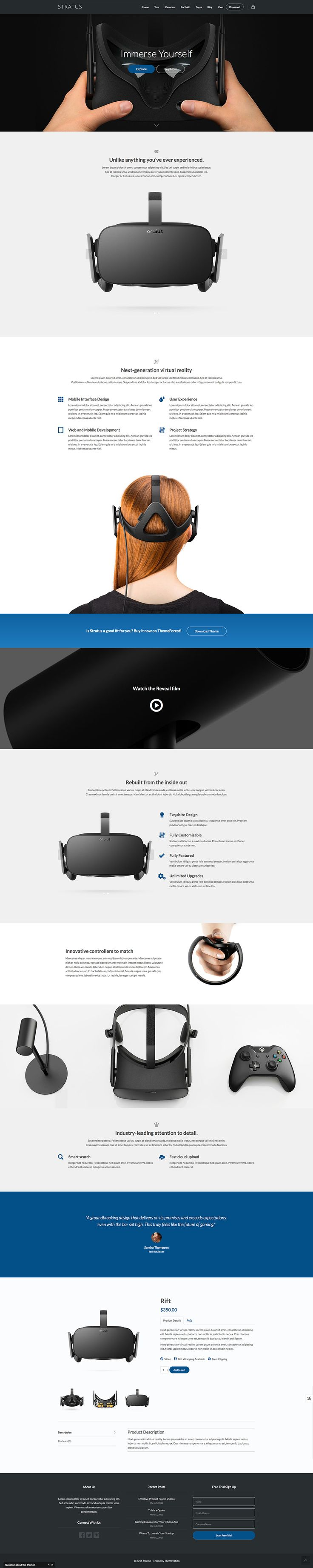 Modern and clean designed showcase theme for Apps, SaaS solutions or hardware. Based on Bootstrap and comes with EooCommerce support.