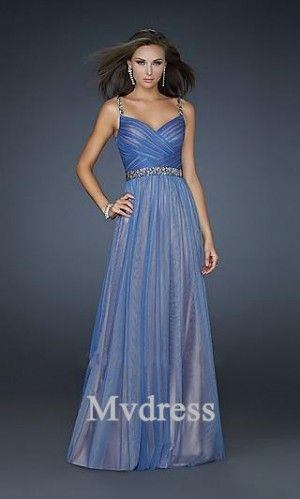 Homecoming Dresses#Evening Dresses#Long Dress Blue# Elastic woven satin Dress