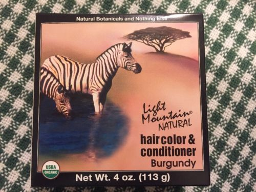 wholesale Hair Care: Light Mountain Natural Burgundy Hair Color And Conditioner 4Oz ~ 11 Boxes -> BUY IT NOW ONLY: $39.99 on eBay!