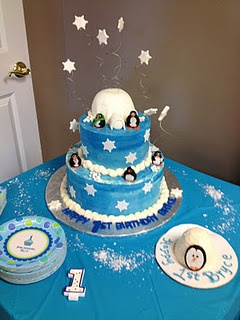 Totally awesome winter onederland cake from the greatest cake lady ever!