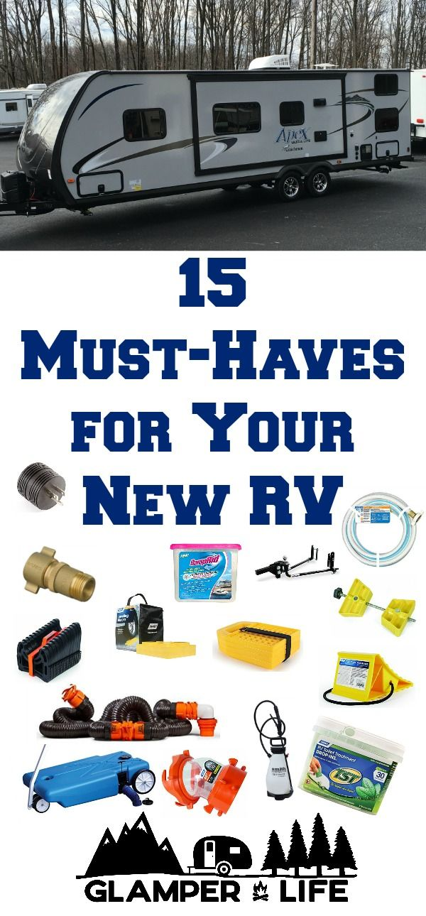 15 Must-Haves for Your New RV - a handy list to have on hand!