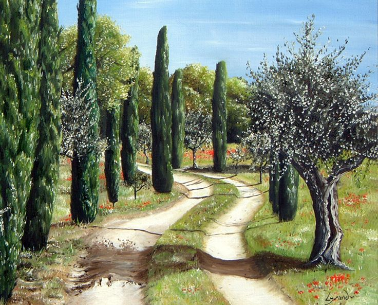 "Reproduction ""Le chemin""  Site: http://www.lysandcreations.com/boutique/liste_rayons.cfm?"