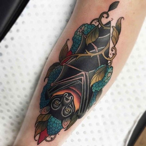 bat tattoo neo-traditional