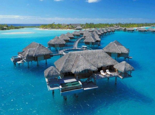 Four Seasons Hotel, Bora Bora, French Polynesia. Always been #1 for me, someday.