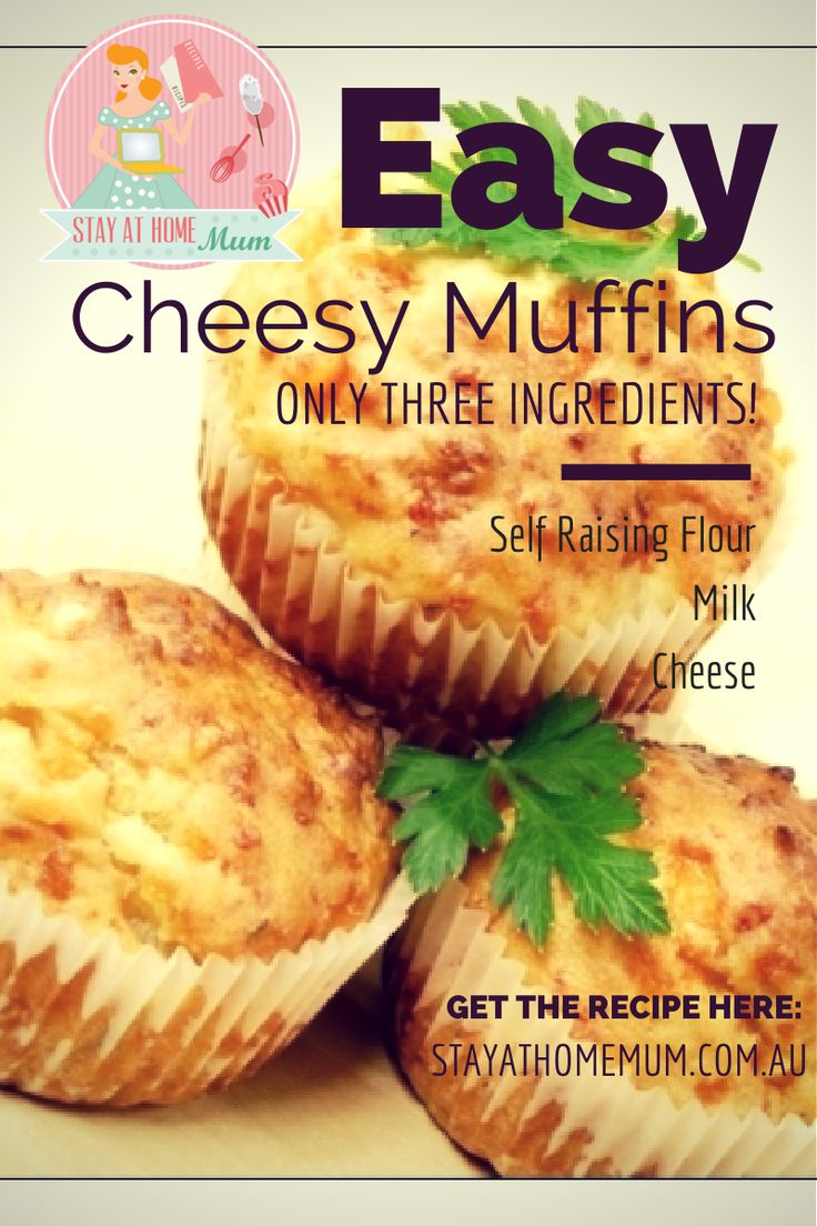 Easy Cheesy Muffins | Stay at Home Mum #Muffins