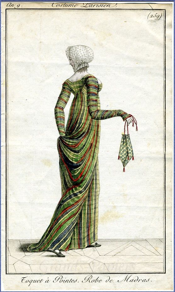 27-10-11  Fashion plate from French fashion periodical Le Journal des Dames et des Modes,1800