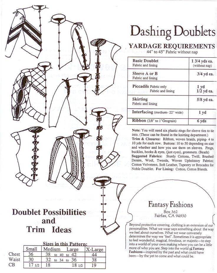 i love historical clothing: doublet patterns