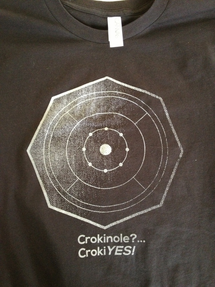 Crokinole?  This Tshirt makes more sense when one considers that Croke-in-Oh is a common pronunciation.  That said, I pronounce the 'L'.