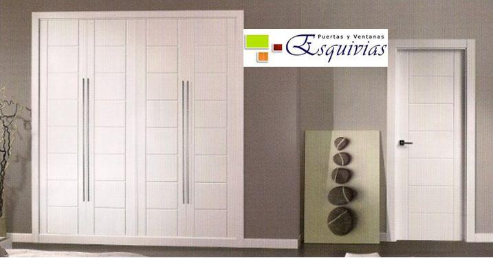 Armarios y puertas a juego en blanco. http://www.puertasyventanasesquivias.es/armarios/