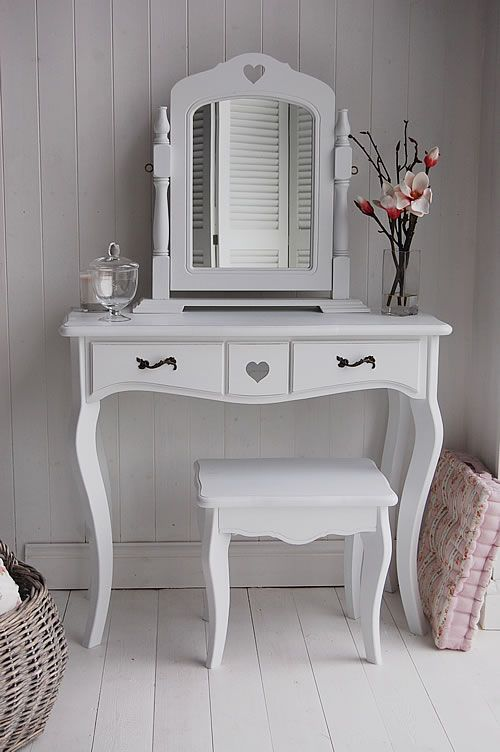 Meja Rias Putih Cat Duco