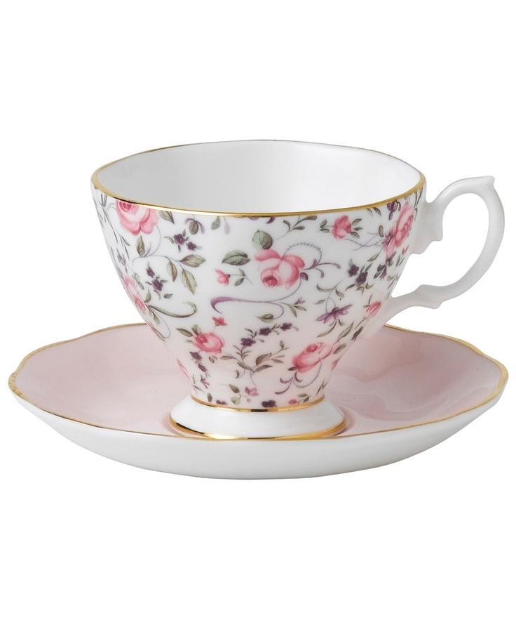 Stunning Roses Confetti Vintage Tea Cup - Royal Albert