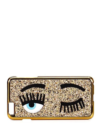 Chiara Ferragni - Accessori - Accessori - Cover per cellulare iPhone 6 Plus con glitter. - ORO - € 35.00