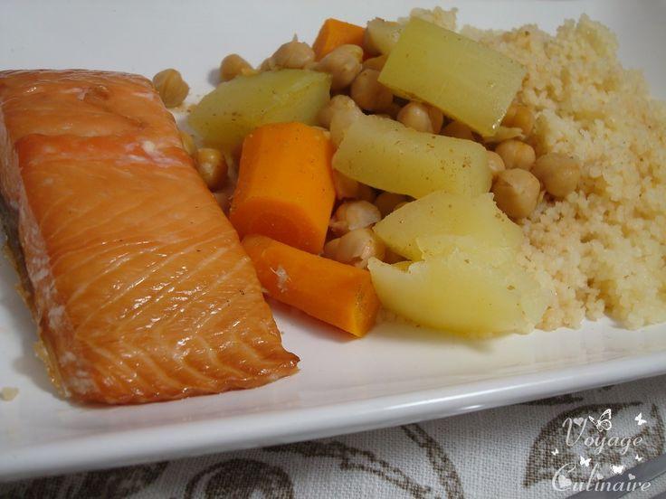 Couscous de légumes au saumon cuit au Microvap