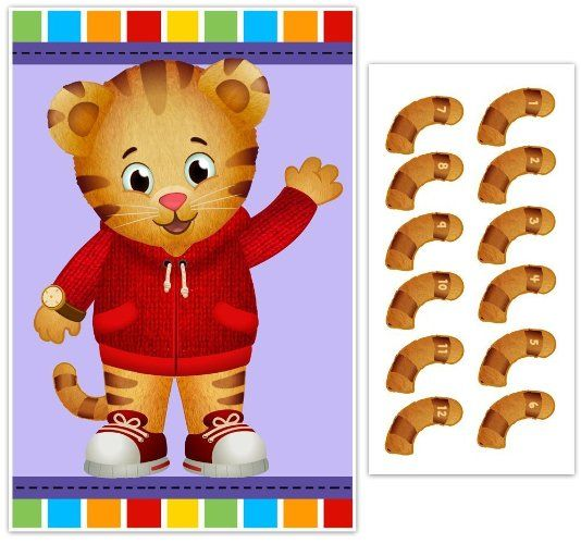 Pin the Tail on Daniel Tiger Birthday Party Game