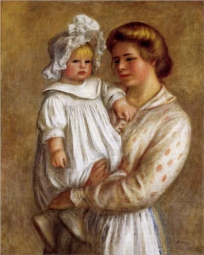 Claude and Renee (Claude) - Pierre-Auguste Renoir...good for Mother's Day lesson