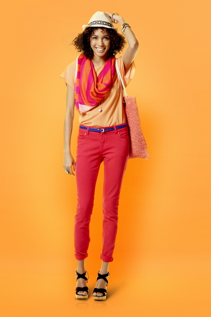 Kelso coloured denim and top