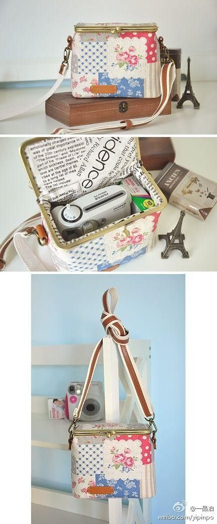 a pretty framed purse for the pocket camera
