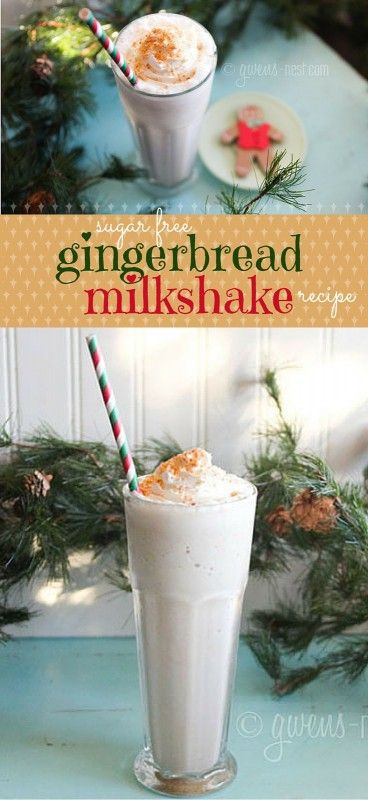 You'd NEVER know this gingerbread milkshake was sugar free. SO AWESOME!!! And a THM Fuel Pull!