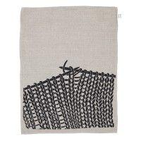 Knitting tea towel
