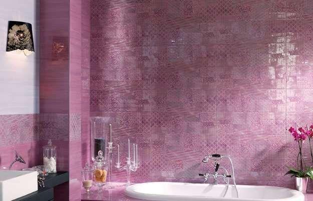 Piastrelle bagno moderno - Bagno lilla Fap Ceramiche