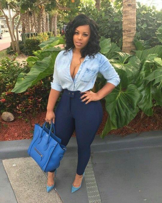 90f204dc88dc That bag tho | Curves in 2019 | Fashion, Curvy girl fashion, Big girl  fashion