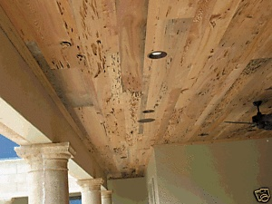 Reclaimed Wood - Kiln Dried Pecky Cypress Paneling | eBayGracie's wood accent wall or porch ceiling