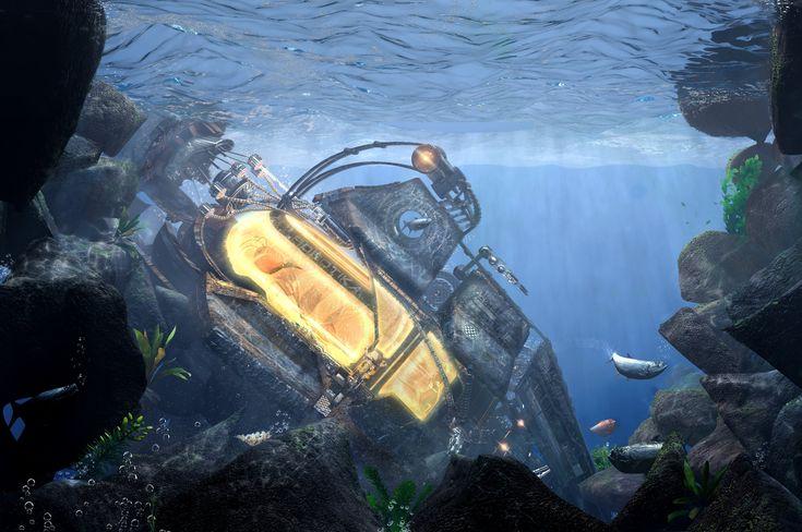 ArtStation - cryogenic ship -environment , Stefano bertelli